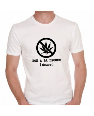 T-shirt Non à la drogue (douce)