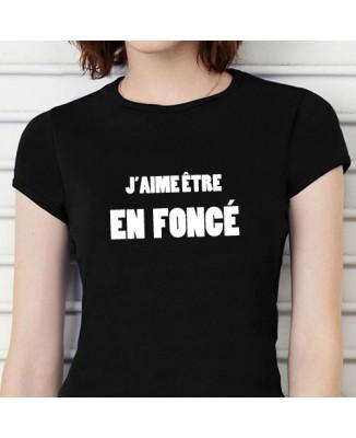 T-shirt J'aime être en foncé [200029]
