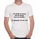 T-shirt humoristique J'ai décidé..