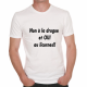T-shirt humoristique Non à la drogue, oui aux licornes!!