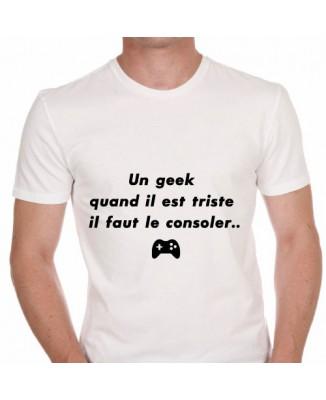 T-shirt humoristique Un geek triste