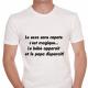 T-shirt humoristique Le sexe sans capote c'est magique