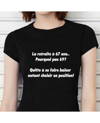 T-shirt humoristique La retraite