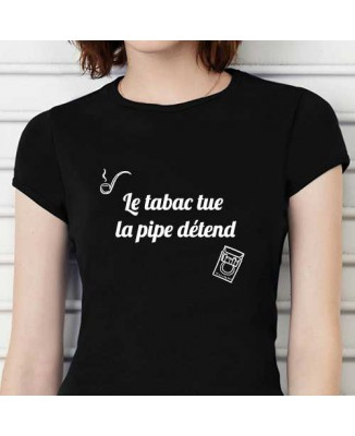T-shirt humoristique Le tabac tue [200304]
