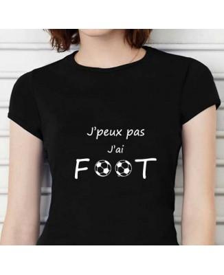T-shirt humoristique J'peux pas j'ai foot!