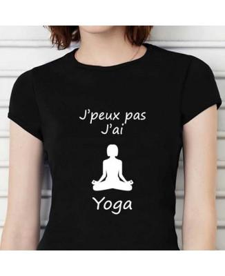T-shirt humoristique J'peux pas j'ai yoga!