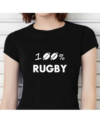 T-shirt humoristique 100% RUGBY