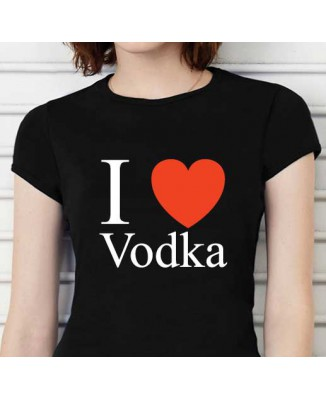 T-shirt humoristique I Love Vodka