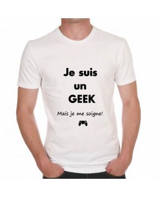 T-shirt humoristique Je suis un geek