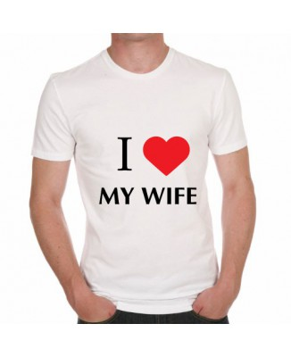 T-shirt humoristique I love my wife