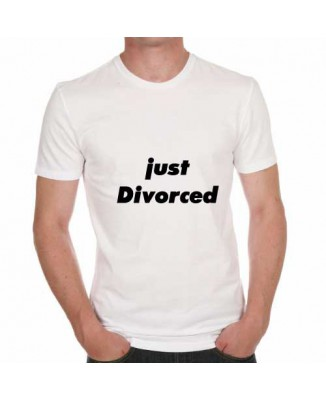 T-shirt humoristique Just Divorced! [200341]