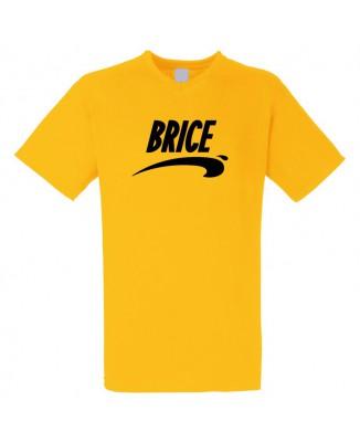 T-shirt jaune col V Brice de Nice [200353]