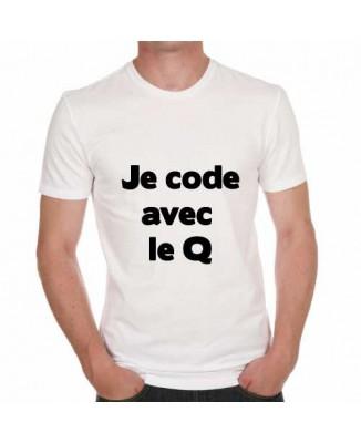 Tee-shirt humour Je code avec le cul