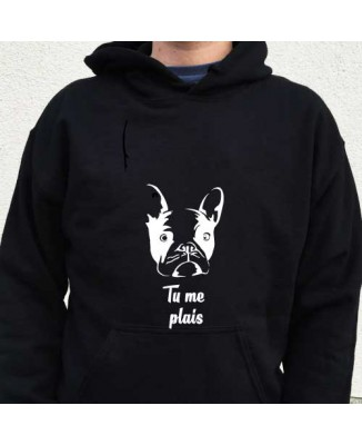 sweat shirt drole de chien Tu me plais! [200315]