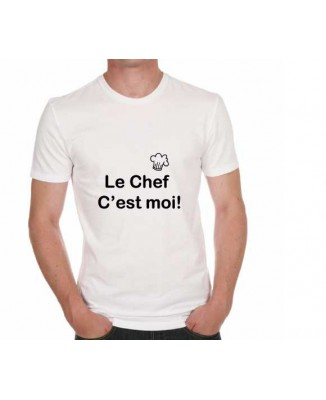 T-shirt humoristique Le chef c'est moi!