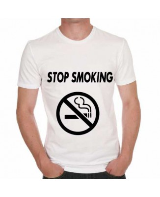 T-shirt humoristique Stop Smoking!