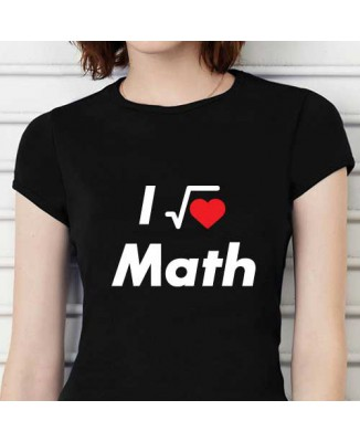 T-shirt humoristique I Love Maths