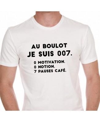 Tee shirt Au Boulot Je Suis 007