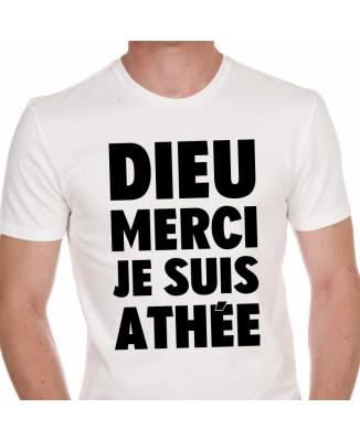 Tee shirt DIEU MERCI JE SUIS ATHÉE