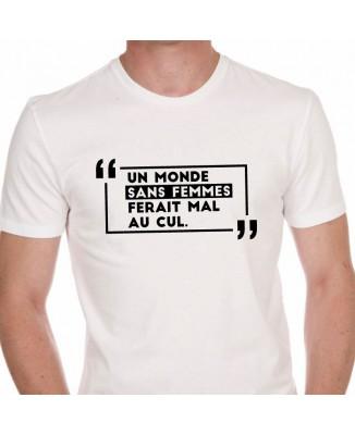 Tee shirt Humour Un Monde Sans Femme ...