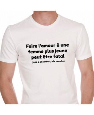 Tee shirt Faire l'Amour Femme Plus Jeune