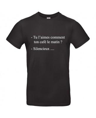 Tee shirt Café du Matin... Silencieux