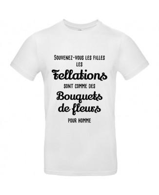 Tee shirt Fellations - Bouquets de Fleurs