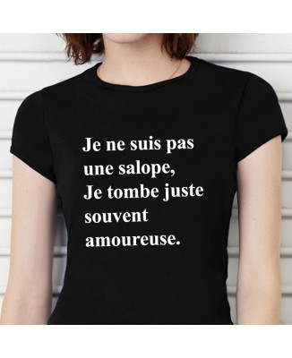 Tee shirt Je Tombe Juste Souvent Amoureuse