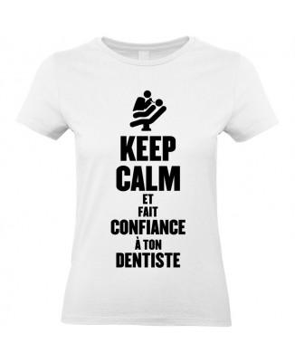 Tee shirt Keep Calm et fait confiance à ton dentiste