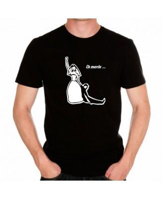 T-shirt Mariage Marié Eh merde...