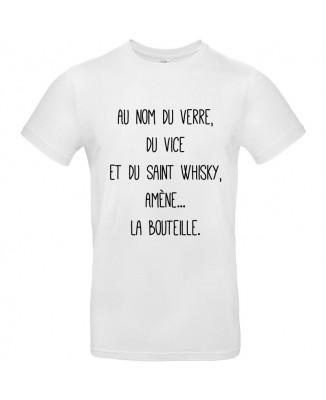 Tee shirt Nom du Verre, du Vice et du Saint Whisky, Amène