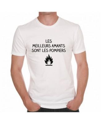 T-shirt Les meilleurs amants sont les pompiers
