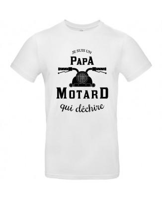 Tee shirt Je Suis Un Papa Motard Qui Déchire