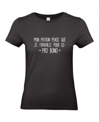 Tee shirt Je travaille Pro Bono