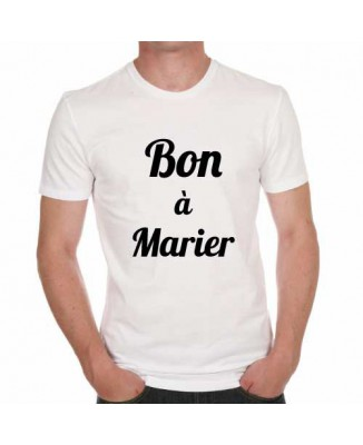 T-shirt humoristique Bon à marier