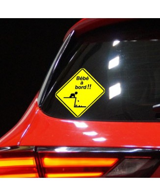 Sticker humour Bébé à Bord Chute