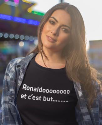 Tee shirt Femme Ronaldo et c'est but ...