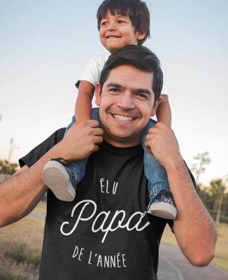 Tee shirt Élu Papa de l'Année