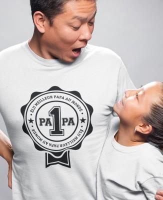 Tee shirt Élu Meilleur Papa au Monde