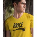 T-shirt jaune col V Brice de Nice