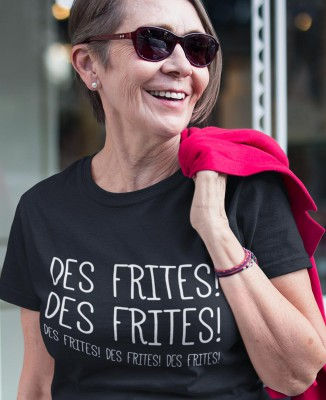 T-shirt Femme Les Tuche - Des Frites !