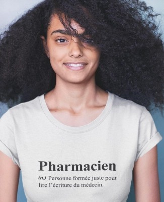 Tee shirt Femme Humour Définition Pharmacien
