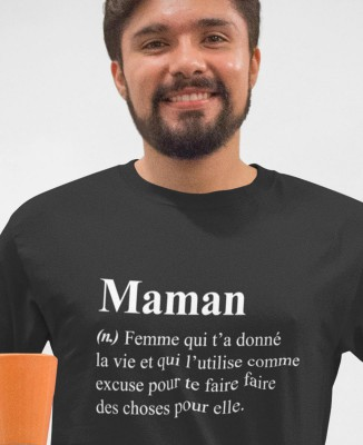 Tee shirt Homme Humour Définition Maman