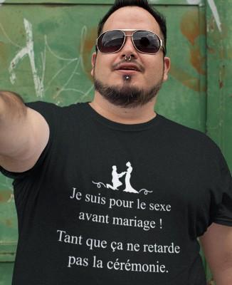 Tee shirt Homme Pour Le Sexe Avant Le Mariage !