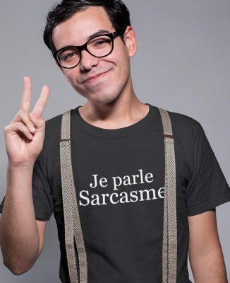 Tee-shirt Homme Je Parle Sarcasme