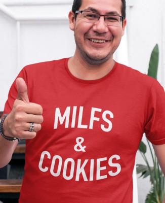 T-shirt Homme Milfs & Cookies