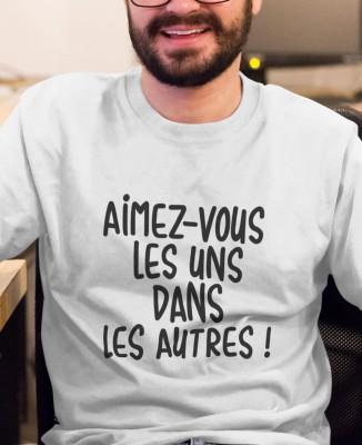 Tee-shirt Homme Aimez-vous les uns dans les autres