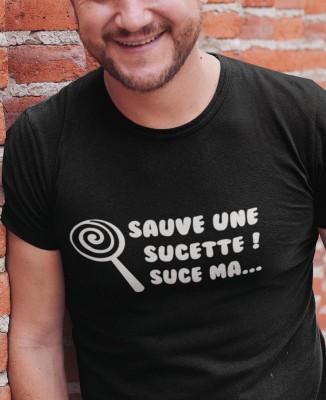 Tee-shirt Homme Sauve une Sucette