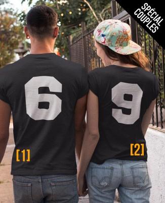 Tee shirts Humour Couples 69 pour homme et femme