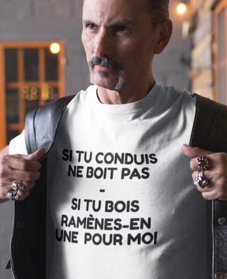 T-shirt Homme Boire ou Conduire